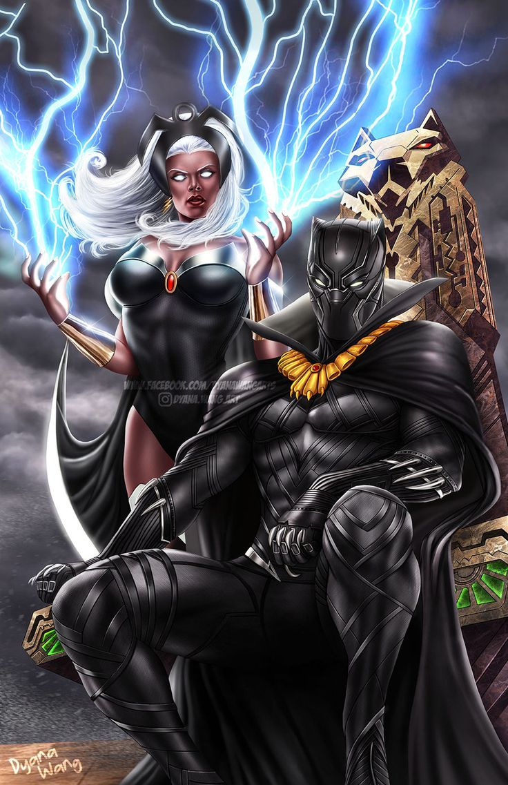 Black Panther and Storm by DyanaWang on DeviantArt