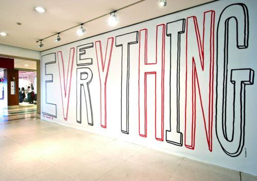 giant hand-drawn typeArt Studios, Environment Design, Interiors Design, Inspiration Labs, Hands Drawn Types, Environment Graphics, Graphics Design, Exhibitions Design, Typography