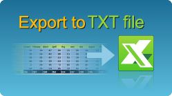 Export data to text file in C#, VB.NET, Java, PHP, ASP classic, C++, C++.NET, VB6  and more, ASP.NET, MVC, from datatable or from list! #EasyXLS #Export #Excel #TXT #CSharp #VBNET #Java #PHP #ASP