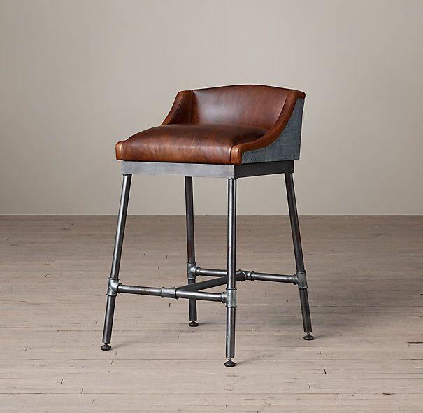 Промышленное американских ретро сделать старый кованого железа барные стулья…