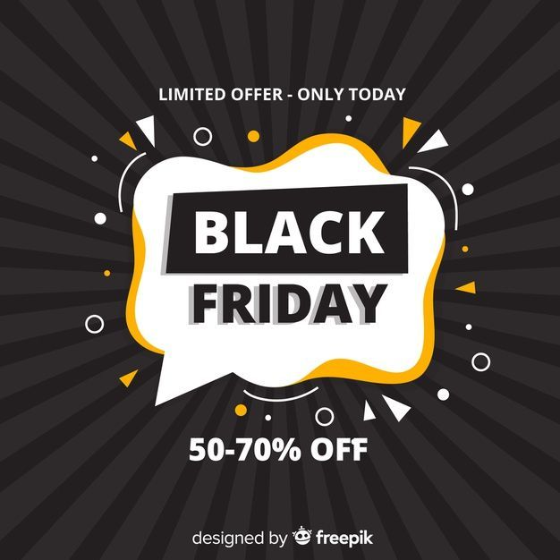Download Black Friday Limited Offer In Flat Design For Free In 2020 Black Friday Design Black Friday Vector Free