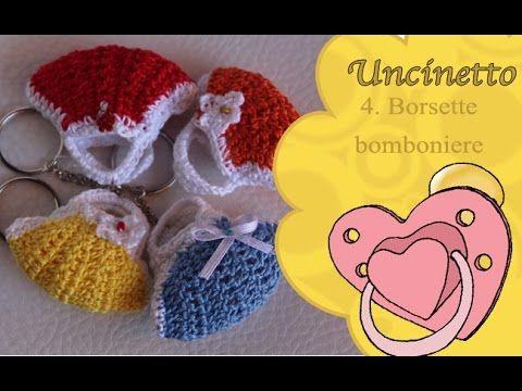 Uncinetto bimbi 4: borsetta bomboniera - YouTube