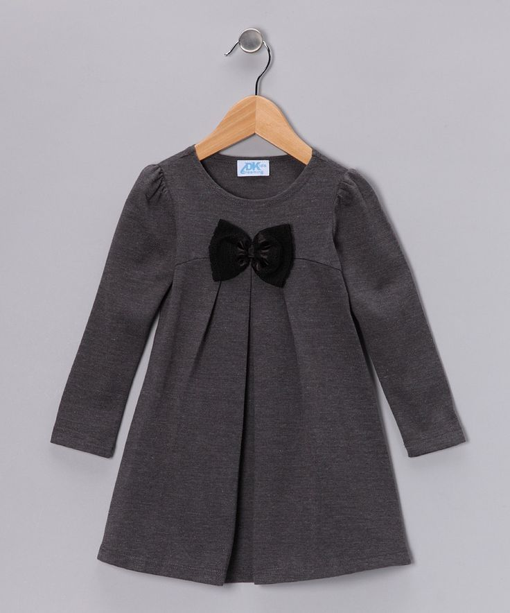 Another great find on #zulily! Gray Bow Dress - Infant, Toddler & Girls by Dreaming Kids #zulilyfinds