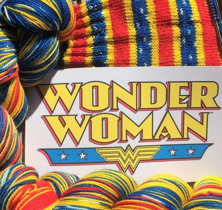 """Wonder Woman"" self striping sock yarn   Sock yarn, Yarn ..."