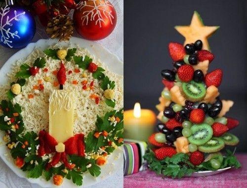 6 рецептов красивых салатов к Новому году - МирТесен