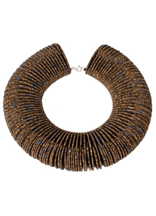 Flow 2.0 Cork Necklace . Portuguese Independent Brand of Contemporary Jewellery