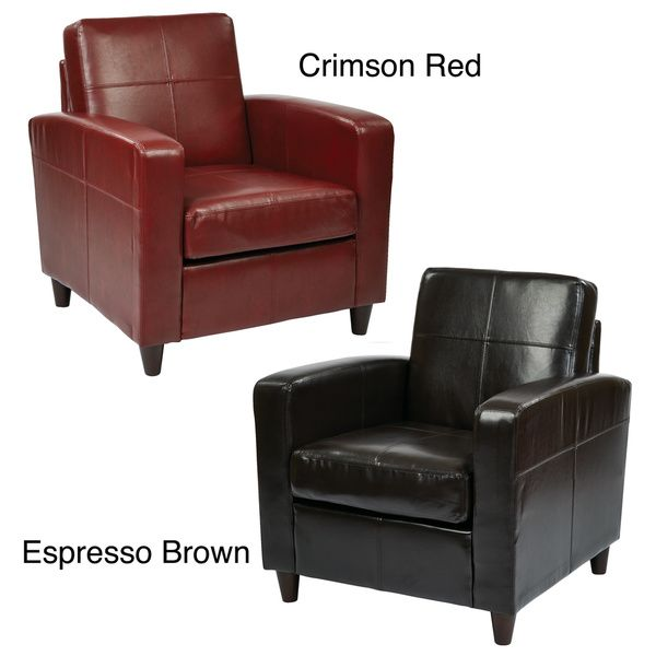 Ave Six Venus Club Chair in Environmentally Friendly Eco Leather & Solid Wood Legs