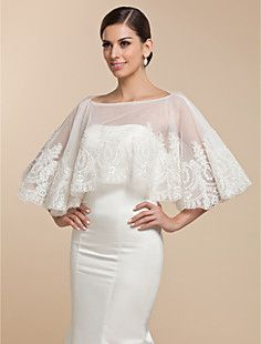Beautiful Lace Evening/Wedding Puncho (More Colors) – USD $ 69.99 -another pretty wrap