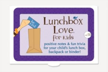 Positive notes and fun trivia for your child's lunchbox, backpack, binder, or pillow.  Busy parents and caregivers will love this easy yet meaningful way to share positive feelings and values with their children.