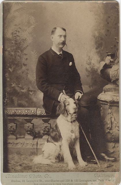 Man with a Dog Cabinet Card by Photo_History, via Flickr