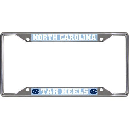 unc university of north carolina license plate frame silver