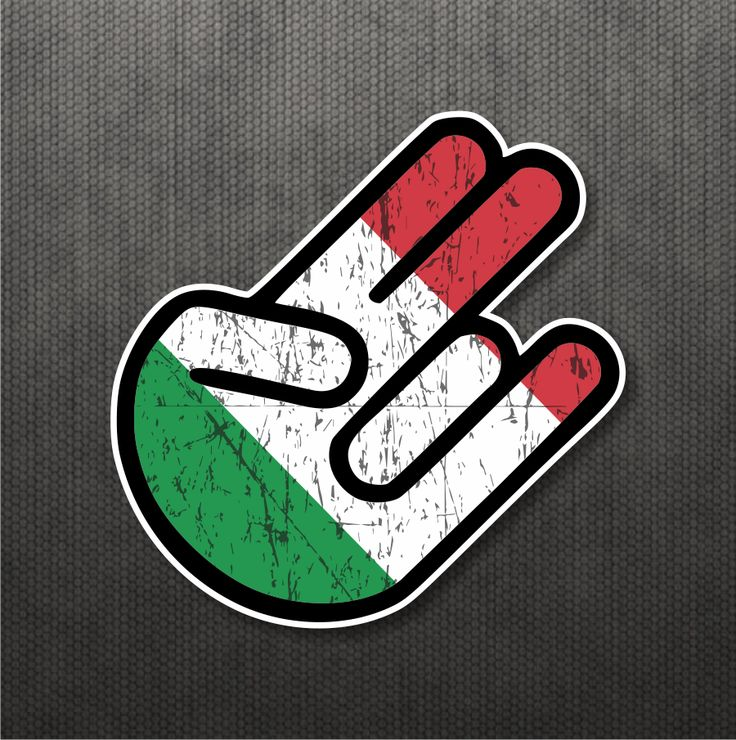 Shocker italian flag sticker vinyl decal italy car macbook motorcycle fit ducati