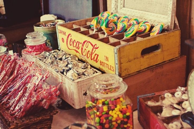 retro candy, candy bar for parties