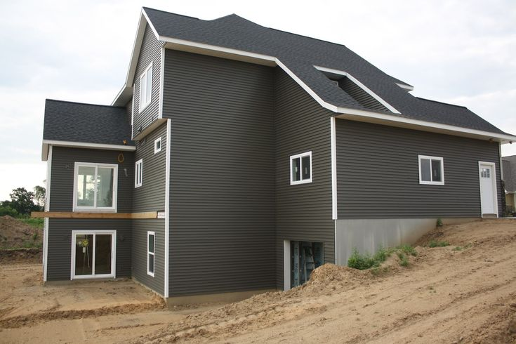 House on tufton the build exterior stone siding and for Grey vinyl siding colors