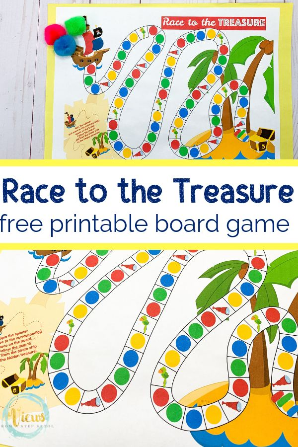 Pirate Board Game Free Printable Pirate games for kids