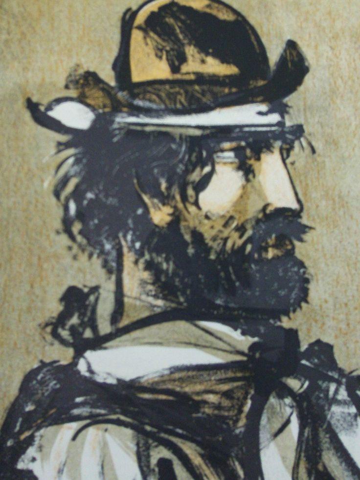 Ilustración de Carlos Alonso para el libro 'El gaucho Martín Fierro y la vuelta de Matín Fierro', editado por Emecé en 1960.