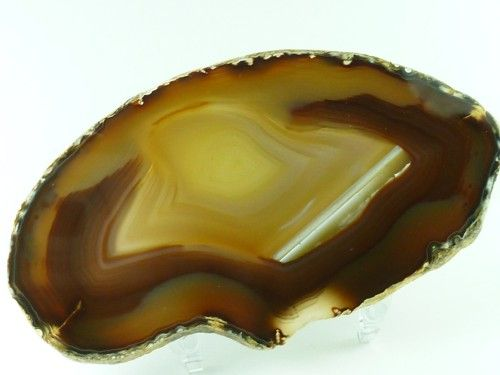 "Brazilian Agate Slab Reddish Brown Banding Polished 4.5"" x 2.5"" BSA4 