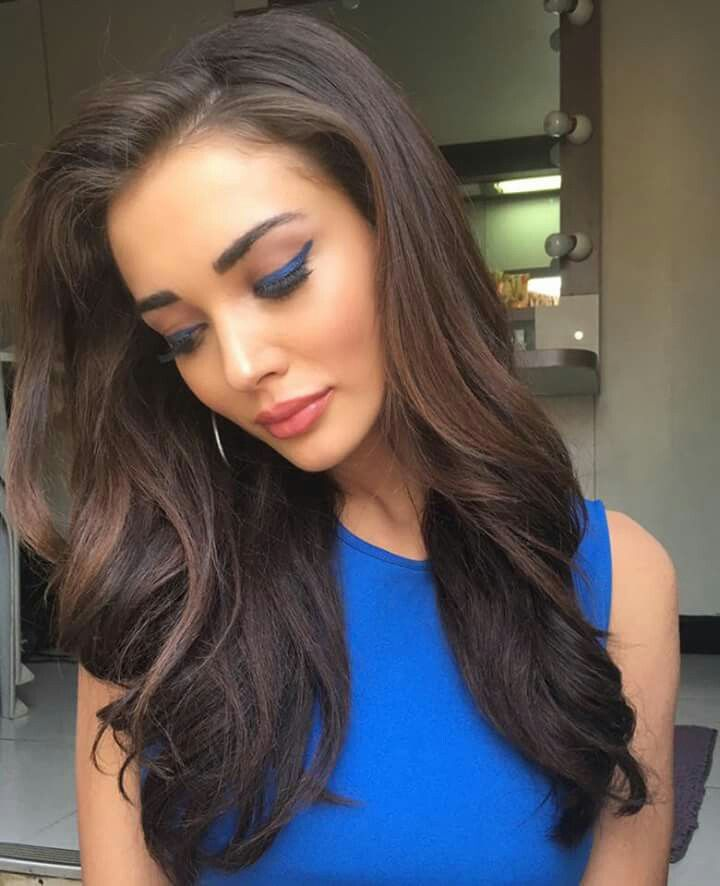 Feeling a bit blue  What do you think of this makeup look we did for my guest appearance in Prabhu Deva's trilingual film? #Bollywood #Tollywood #Kollywood #LoveyouMom