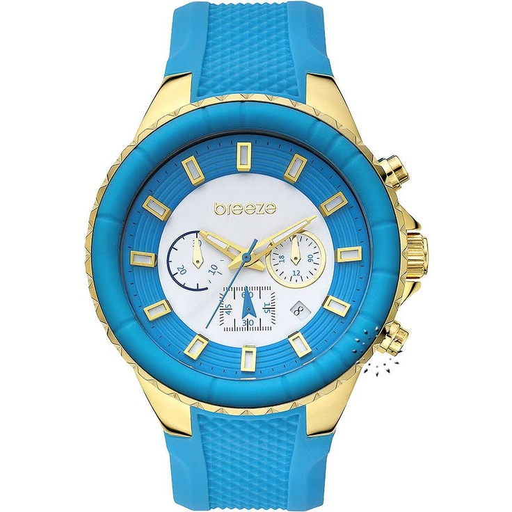 BREEZE Air Hollywood Chrono Blue Rubber Strap Μοντέλο: 110091.4 Τιμή: 180€ http://www.oroloi.gr/product_info.php?products_id=30586