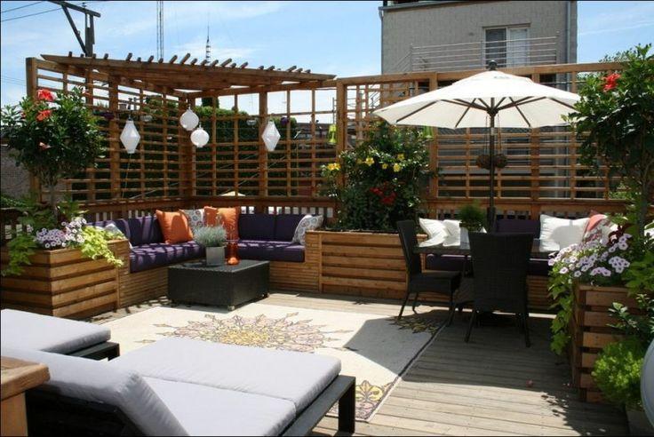 68 besten terrassenw nde bilder auf pinterest garten terrasse dachterrassen und gartendekoration. Black Bedroom Furniture Sets. Home Design Ideas