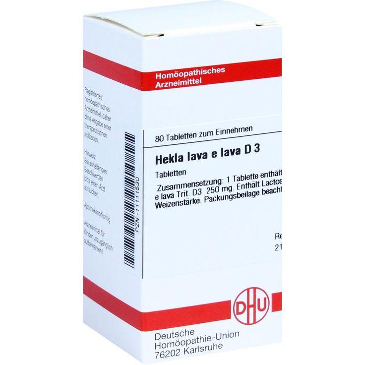 HEKLA lava e lava D 3 Tabletten:   Packungsinhalt: 80 St Tabletten PZN: 11111530 Hersteller: DHU-Arzneimittel GmbH & Co. KG Preis: 5,95…