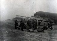 Polish paratroopers prepare to fly to Arnhem.