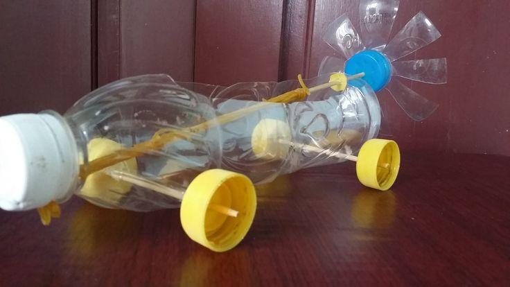 Wie man ein Gummiband betriebenen Auto machen | Mit Plastikflasche