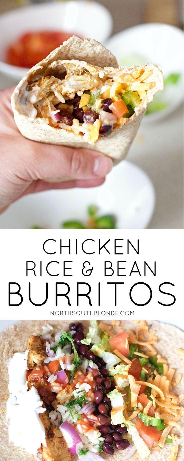 Chicken And Black Bean Burritos Lean Gluten Free Recipe Easy Burrito Recipe Recipes Lunch Recipes