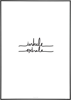 """Inhale"" in front and ""exhale"" in back. Inhale the future (going forward) exhale the past (walking away)"