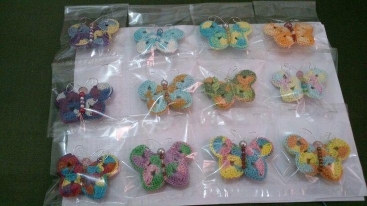 My butterflies brooches....love it...