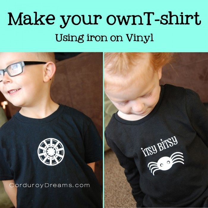 make your own tshirt with iron on vinyl. Via corduroydreams.com