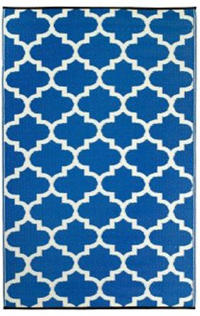 Earth de Fleur Homewares - Tangier Regatta Blue Indoor Outdoor Rug