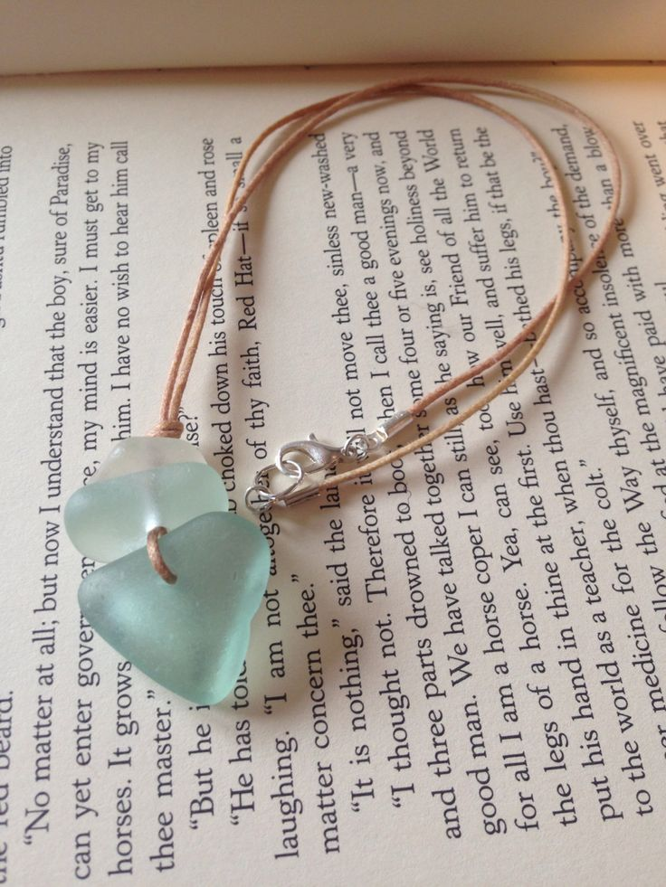 Beach comber sea glass necklace by ChellysGems on Etsy