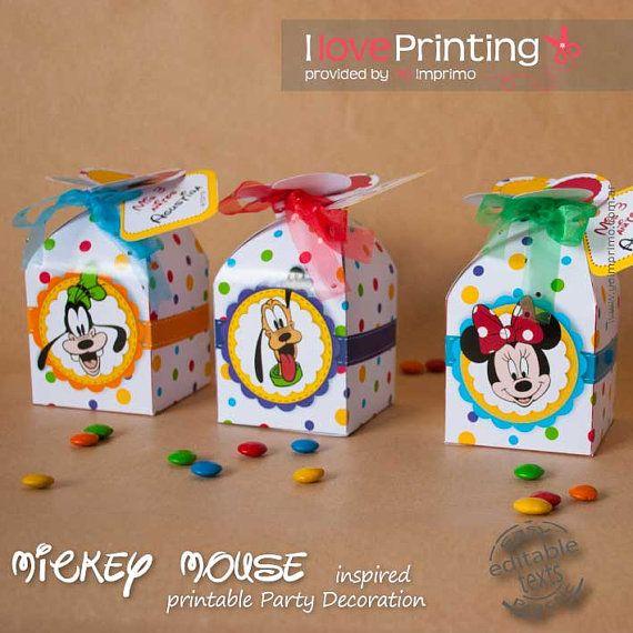 Caja Mickey y sus amigos Imprimible por ILovePrinting en Etsy