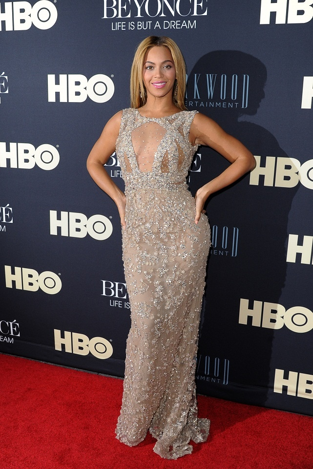 Beyonce in Elie Saab Couture at the 'Beyonce: Life Is But A Dream' premiere in New York
