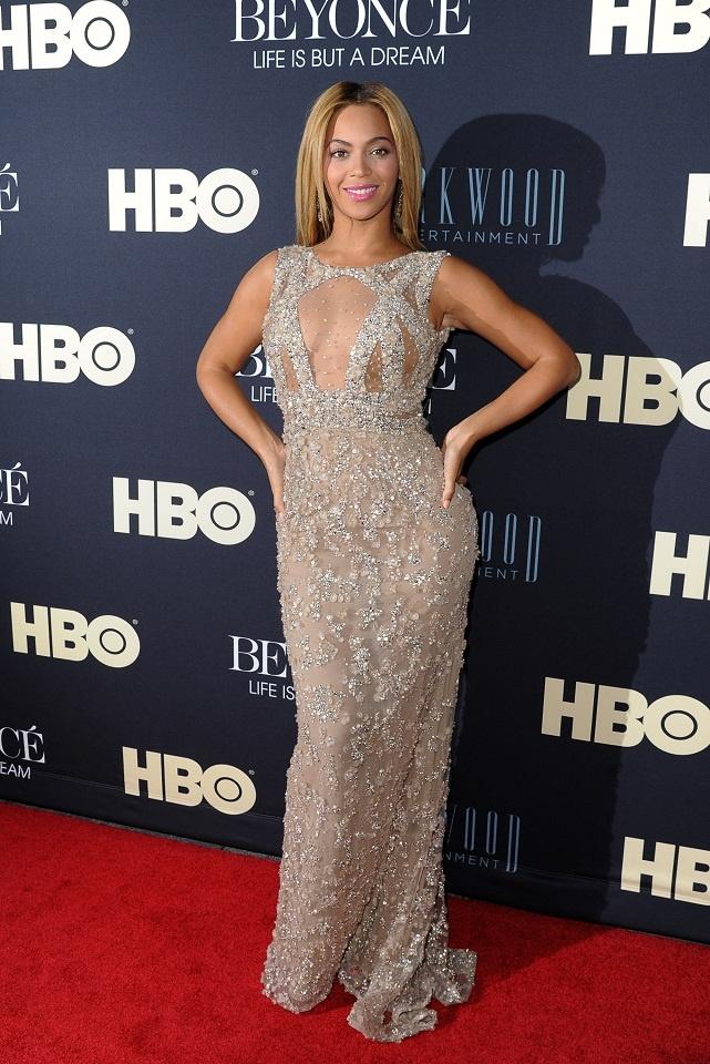 Beyonce upgrade u gold dress laundry