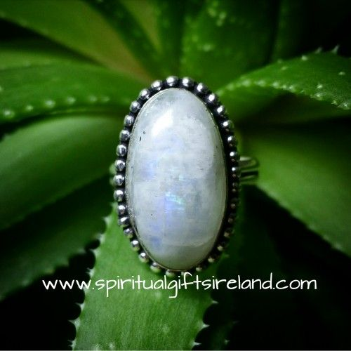 Rainbow Moonstone Ring Visit our store at www.spiritualgiftsireland.com  Follow Spiritual Gifts Ireland on www.facebook.com/spiritualgiftsireland www.instagram.com/spiritualgiftsireland www.etsy.com/shop/spiritualgiftireland	  We are also featured on Tumblr
