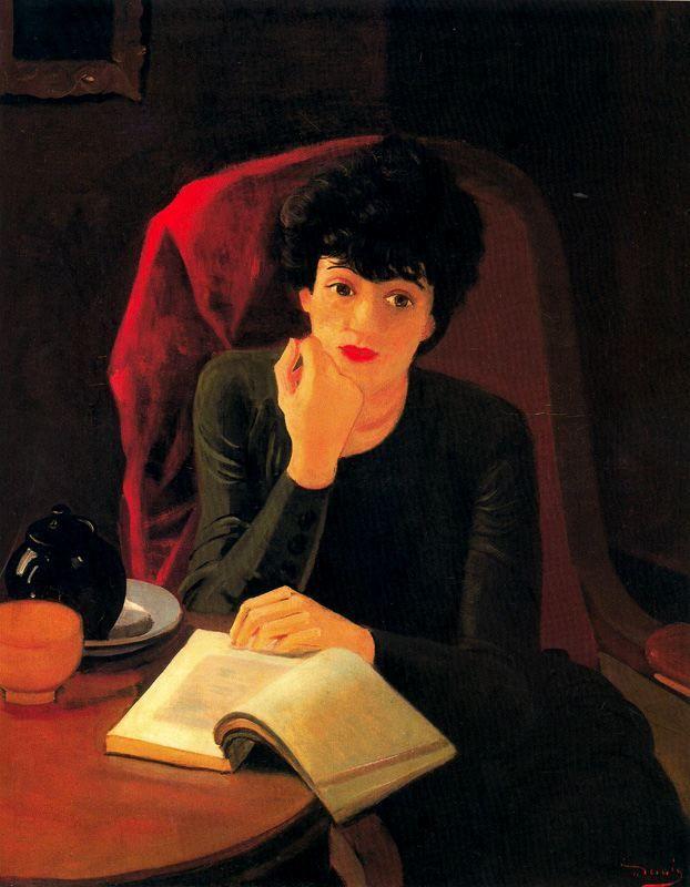 La tasse de thé (1935) André Derain Français (1880 - 1954) 92 cm x 74 cm, huile sur toile Musée National d'Art Moderne, Paris