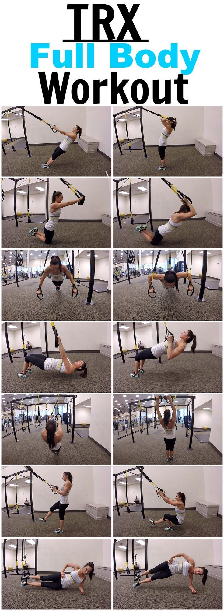 7 Exercises for a full body TRX workout!   find more relevant stuff: victoriajohnson.wordpress.com