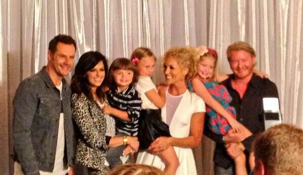 Little Big Town with their kids Jimi Westbrook and Karen Fairchild Westbrook with their son Eilijah, Kimberly Roads Schlapman with her and hubby's Stephen daughter Daisy and Phillip Sweet and wife's Rebecca Auther's daughter Penelopi