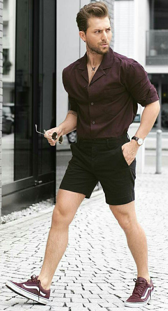 e182a3cc8fed shorts   shirt outfit ideas for men
