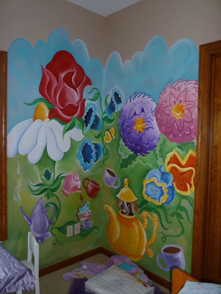 17 best images about church painting on pinterest for Alice in wonderland mural