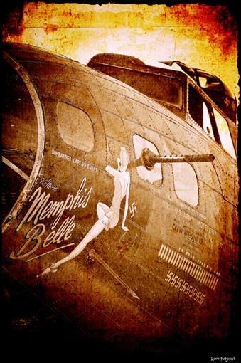 Memphis Belle Aviation Art Print by CosmikFrogPhotograph on Etsy, $10.00