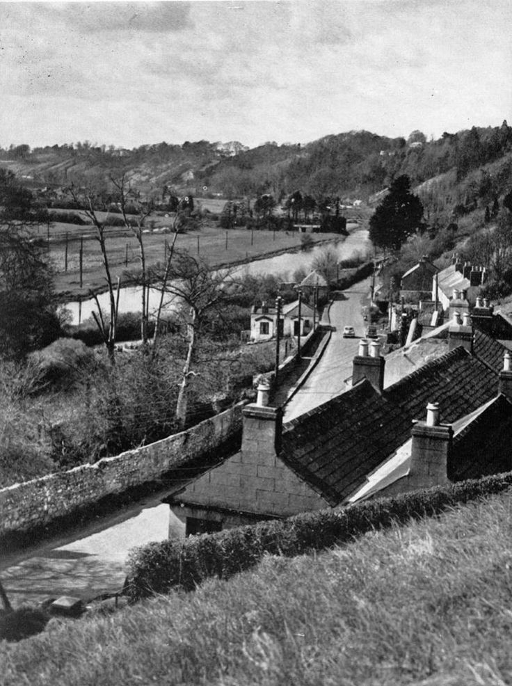 Strawberry beds, overlooking the Anglers Rest pub 1950s