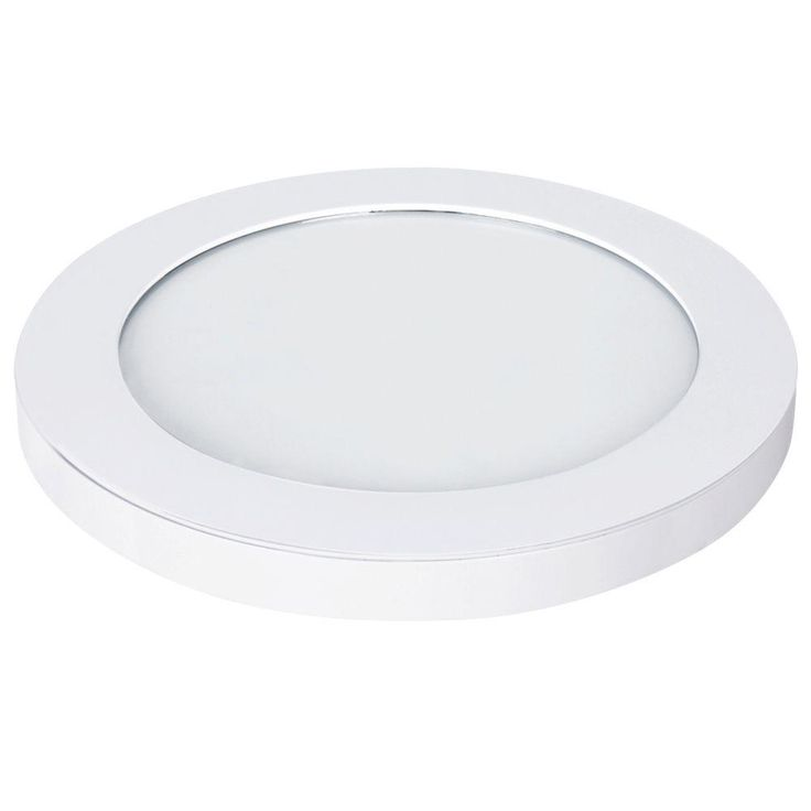Commercial Electric 11 in. White LED Edge-Lit Flat Round Panel Flushmount