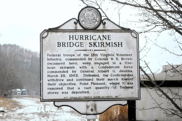 Hurricane Bridge Civil War Skirmish Sign: Civil War