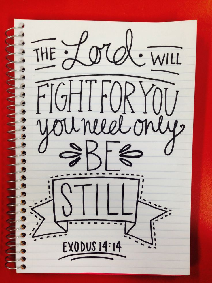 The Lord will fight for you. You need only be still. Exodus 14:14 Words of encouragement