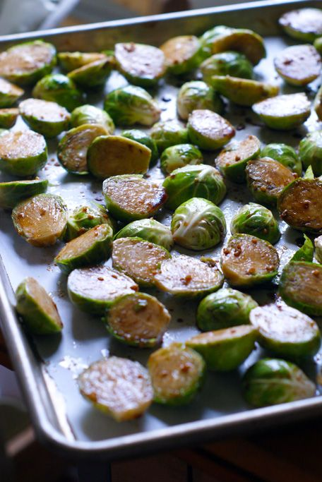Garlic Balsamic Roasted Brussel Sprouts