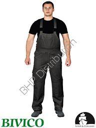Czarne spodnie ochronne ogrodniczki LH-BISTER