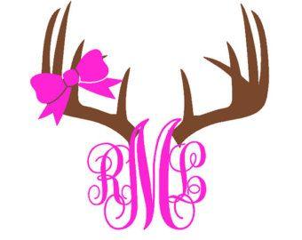 Custom Deer Monogram Vinyl Car Decal Country Girl Decal Hunting - Custom vinyl car decals online